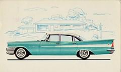 1958 Chrysler Saratoga 4-Door Sedan (aldenjewell) Tags: sedan postcard saratoga 1958 chrysler 4door