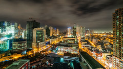 Manila (Hendraxu) Tags: city light urban building skyline architecture night skyscraper glow cityscape nightscape nightshot outdoor philippines perspective manila makati luminous