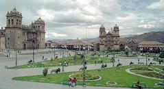 Peru : Cuzco #8 (foto_morgana) Tags: building peru southamerica cuzco cathedral outdoor iglesia nikoncoolscan analogphotography plazadearmas analogefotografie vuescan travelexperience photographieanalogue