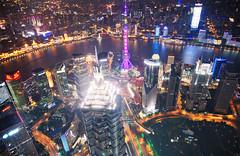 Shanghai (D.H. Parks) Tags: china city skyline architecture night shanghai pudong bund hdr huangpuriver orientalpearltvtower nikon24120 nikond610