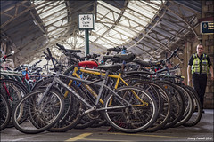 Temple Meads (zolaczakl ( 2 million views, thanks everyone)) Tags: bristol templemeads police bicycle roof lightshadow nikonafsnikkor24120mmf4gedvrlens nikond7100 photographybyjeremyfennell may railway station uk england southwest platform 2016