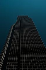 Black and blue (Der Urbanist) Tags: seattle sky urban building lines architecture skyscraper washington himmel architektur wa gebude linear hochhaus columbiacenter