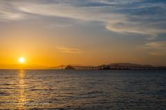 Sun Glow from Miller/Knox (Laura Macky) Tags: bridge sunset sky landscape golden richmond bayarea sanrafael millerknoxregionalpark ebparksok