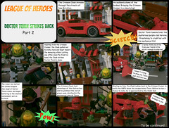 League of Heroes: Doctor Toxin Strikes Back - Part 2 (jgg3210) Tags: new crimson comic veil lego violet doctor comicbook superhero cloak cruiser loh toxin minifigure moc supervillain minifigures leagueofheroes brickton