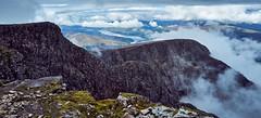 Centurion, Carn Dearg (alex.illumidata) Tags: mountain mountains rock clouds scotland perspective bennevis loch elevation mountainscape locheil x100