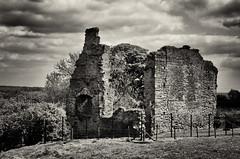 Codnor Castle (amber654) Tags: england sky bw building castle history monument monochrome stone clouds mono nikon derbyshire ruin 18105 ancientmonument 13thcentury erewash codnor gradeiilisted erewashvalley codnorcastle williampeverel d5100 nikond5100