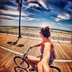 OCNJ (alenka19photos) Tags: ocean new city travel bike ride sunny adventure explore biking jersey boardwalk