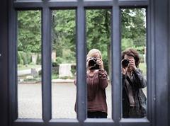 You've got a friend - HWW (marionrosengarten) Tags: natalie window mirror cemetary darmstadt together specialday selfie nikon hww windowwednesday