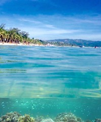 What lies beneath (Lens_sky05) Tags: nature green clouds sea perspective composition corals whitebeach palms sky philippines tropical island beach boracay