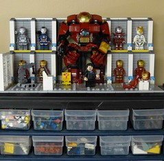 Drawer Toppers: Hall of Suits (Dodge...) Tags: suits comic lego scene ironman slug marvel topper 2016