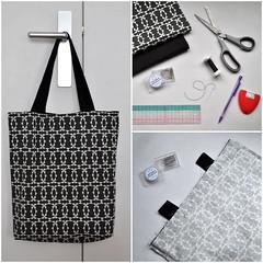 DIY: The reversible tote bag (irecyclart) Tags: diy fabric tutorial