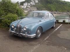 1964 Jaguar MK2 2.4 (occama) Tags: old uk blue classic car cornwall mk2 british 24 jaguar 1964 apf301b