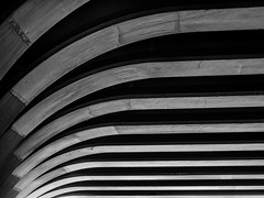 Leveling off (uneitzel) Tags: bridge bw abstract geometric monochrome lines architecture pattern hamburg architektur minimalism curve curved schwarzweiss brcke linien olympusem5 mzuiko1250mm