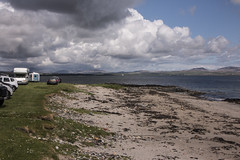 Islay 2016 2 (35) (Yorkshire Reckless & Proud) Tags: blue shadow sea people musician cloud sun lighthouse black bird beach birds silhouette vw landscape scotland boat ship harbour cottage sails tent islay seal duster van camper distillery orsay bowmore bruichladdich dacia