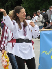 In Ukranian costume (jamica1) Tags: woman canada costume bc okanagan may dancer columbia days parade british kelowna rutland ukranian dolyna
