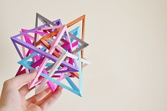 Eight Interlocking Tetrahedra #4 (Byriah Loper) (Byriah Loper) Tags: paper origami polygon paperfolding polyhedron origamimodular byriahloper