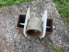 "2"" coupling in place and isolated from the ground"