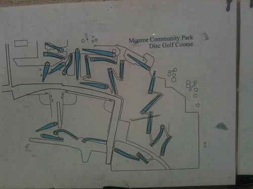 Monroe disc golf course