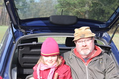 (:Linda:) Tags: germany thuringia village veilsdorf eichigt car sit seat stick girl man grandfather granddaughter together werravalleyhills