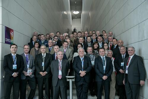 Parte de la delegación valenciana