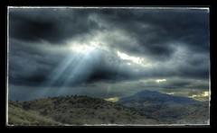 Davis Mountains State Park (dkfotog) Tags: statepark sky sun sunlight rain weather clouds landscape texas sony rays fortdavis davismountains rx100 snapseed