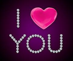 I LOVE YOU BY MARIKA (keenahsky) Tags: pink love glitter glamour shiny heart jewelry romance diamond letter romantic iloveyou jem lovely luxury brilliant sparkling withlove designbackgroundimage