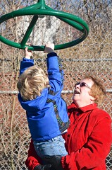Grandma Helping Everett At The Playground (Joe Shlabotnik) Tags: playground nancy everett faved 2015 afsdxvrzoomnikkor18105mmf3556ged march2015