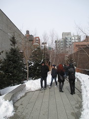 High Line Snow Covered Railroad Overpass Tracks to Nowhere 8367 (Brechtbug) Tags: road park street new york city nyc railroad winter urban snow streets west art architecture garden way design march high downtown gallery path walk manhattan district balcony packing side nowhere tracks overpass rail pedestrian mini el meat line midtown covered mezzanine transportation boardwalk former elevated blizzard derelict reclamation highline skyway redesign the remodeled 2015 03072015