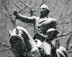 Washington in Snow I (edenpictures) Tags: nyc newyorkcity sculpture snow statue march manhattan snowfall georgewashington unionsquare blizzard unionsquarepark