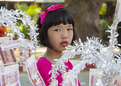 Girl Walking To The Temple With Offerings For A Novitiation Ceremony, Bagan,  Myanmar (Eric Lafforgue) Tags: travel people color colour tourism colors horizontal asian outside religious outdoors photography daylight costume worship colorful asia day colours child burma buddhist traditional religion ceremony buddhism parade celebration pots ornament embellishment teenager myanmar colourful spirituality spiritual ethnic offers ordination oneperson pagan bagan decorated traditionalculture offerings novice traditionalclothing traveldestinations lookingatcamera 1people shinbyu carryingonhead colourpicture mandalayregion novitiationceremony burma1038