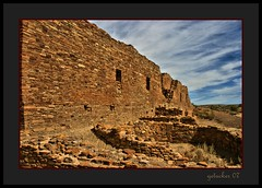 Chaco Canyon 4 (the Gallopping Geezer 3.5 million + views....) Tags: road trip newmexico southwest west building history abandoned stone canon ruins village decay indian culture structure historic nativeamerican faded worn western ghosttown weathered chacocanyon derelict wildwest decayed americanwest geezer americanindian 2007 corel oldwest west07927