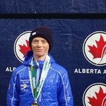 Kimberley Alpine Team racer Ethan Blair wins GS and slalom GOLD at Lake Louise Western Championships PHOTO CREDIT: Jon Blair