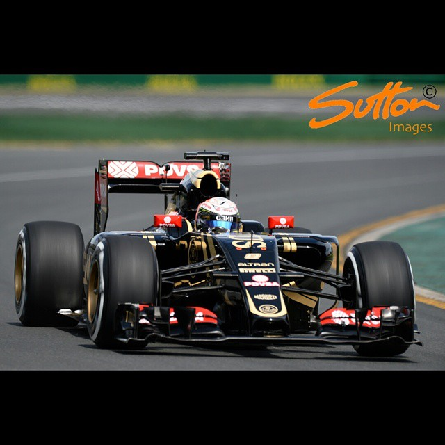 #FP3 - #pastormaldonado in the #LotusF1 #E23Hybrid #AusGP #F1