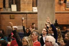 Hands up! (Eugene Regis) Tags: london nw camden labour conservative liberaldemocrat westhampstead generalelection generalelection2015 westhampsteadhustings
