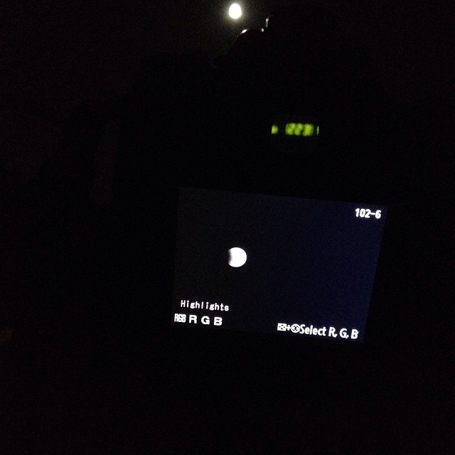 Shootin the Lunar Eclipse! #lunar eclipse #LifeisGood  #thestrugglingphotographer