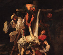 Saint Omer, Nord-Pas-de-Calais, Cathdrale Notre-Dame, deposition from the cross / Rubens, detail (groenling) Tags: france painting cross jesus peinture notredame cathdrale ladder tableau rubens fr nordpasdecalais croix pasdecalais deposition saintomer descente