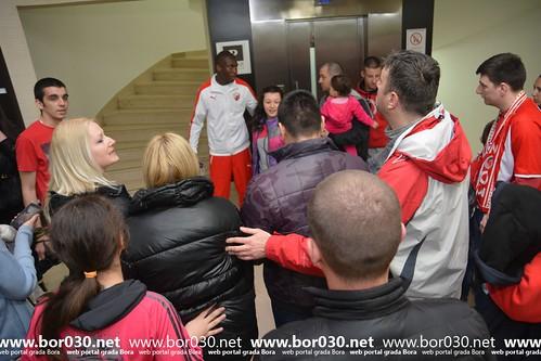 Trening Crvene zvezde i druženje sa navijačima