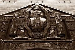2 - Paris 16me Avenue Marceau Eglise Saint Pierre de Chaillot (melina1965) Tags: sculpture paris church sepia nikon ledefrance faades churches april avril glise sculptures faade basrelief spia 2015 75016 glises basreliefs d80 16mearrondissement