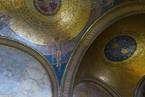 Creation domes in Portico | St Bartholomew, New York