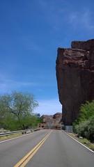 Road Closed (Ms. Jen) Tags: arizona rock coloradoriver roadclosed monolith parker buckskin turnaround lumia parkerdam buckskinstatepark lumia1020 nokialumia1020