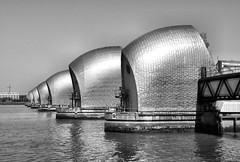 Thames Barrier (R~P~M) Tags: uk greatbritain england london thames river flood unitedkingdom barrier