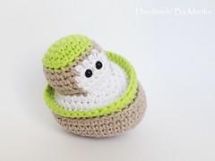 Boat rattle (muustare) Tags: baby cute green boat beige soft handmade crochet yarn softie cotton organic etsy amigurumi crocheted teether rattle babytoy babyrattle bymarika handmadebymarika