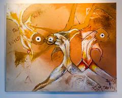 Fossil Fish (Steve Taylor (Photography)) Tags: uk greatbritain wild england fish eye texture painting with heart legs unitedkingdom running gb harris bexley hallplace fossilfish