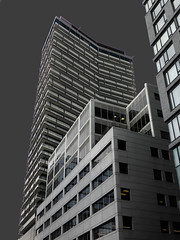 Toronto Skyscraper (duaneschermerhorn) Tags: city blackandwhite white toronto ontario canada black reflection building glass architecture modern skyscraper blackwhite cityscape contemporary architect modernarchitecture contemporaryarchitecture glassfacade