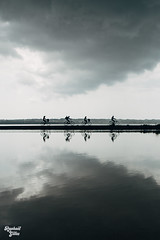 Reflection (raphgilles) Tags: reflection bicycle pond sony ibiza formentera a7s