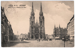 Ostende - Church (pepandtim) Tags: road old england horses love kids breakfast paul born early site oak war pretty dad all crossing village belgium pierre interior postcard great fine 1940 smooth shaved royal mosaics kisses charles prix vehicles nostalgia staircase german dome winner granite nostalgic registered historical writer belgian motor hotels marble miss campbell quaint society fellow mons bet essex destroyed byzantine ostend freres postale walthamstow carte 1937 1952 kursaal mcnamara ostende 1896 goncourt sumptuous preaux occupiers ghlin plisnier 44chu77