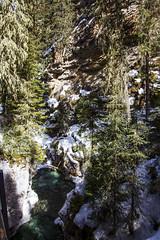 Johnston Canyon, Banff, Alberta (Jim 03) Tags: blue lake snow mountains ice wall creek river melting path turquoise jim canyon louise covered alberta bow banff icicles johnston jimhoffman jhoffman jim03 wwwflickrcomphotosjhoffman2013 wwwjimahoffmancom