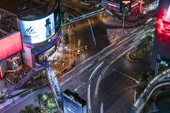 Las Vegas Strip (alittlegordie) Tags: longexposure vegas traffic lasvegas intersection thestrip lighttrails