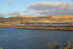 AMTK GE P42DC #100 (busdude) Tags: amtrak empire 100 ge builder empirebuilder superliner amtk p42dc