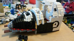 Lego space shuttle WIP.  Still figuring out the contours (sema4) Tags: lego spaceshuttle sts afol